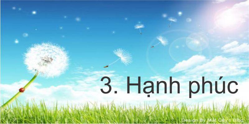 3. Hạnh phúc